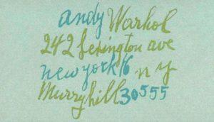 Tarjeta de de Andy Warhol