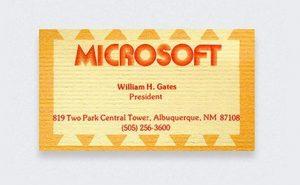 Tarjeta de visita de Bill Gates