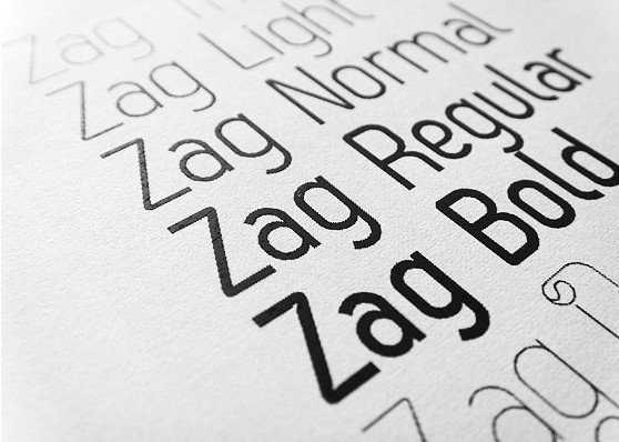 Tipos de letra Zag